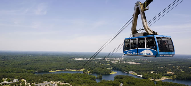 The Tram From Stone Mountain Park