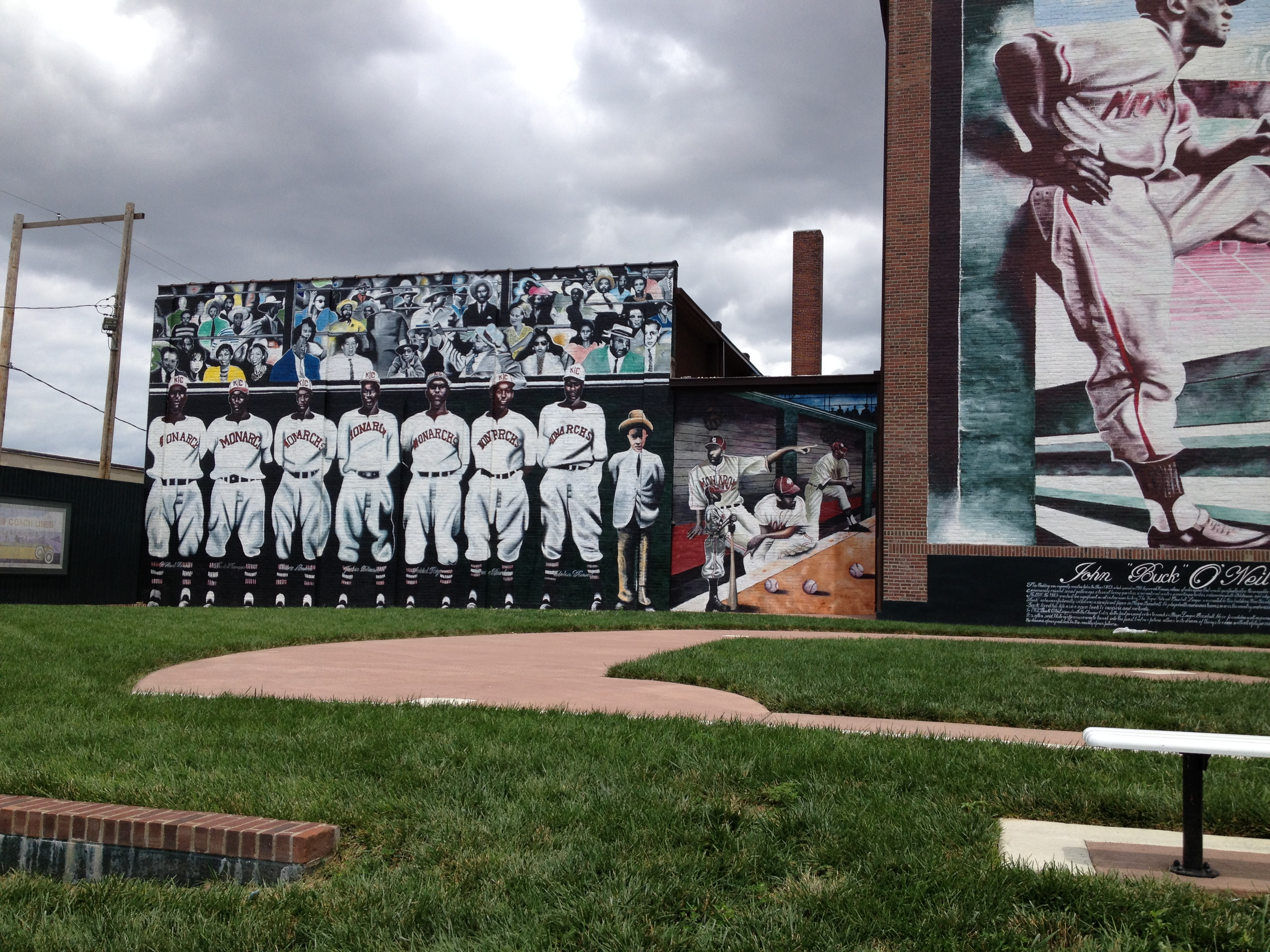 enjoying baseball after october bill on the road a local kansas city artist named alexander austin who is known for painting murals designed and painted this beauty outside the negro leagues museum in kc