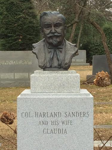 Col Sanders Grave Site Bill On The Road