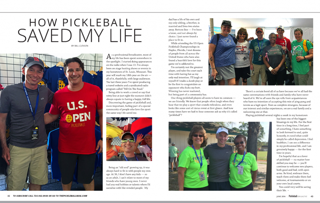 Pickleball Magazine Article Summer 2016